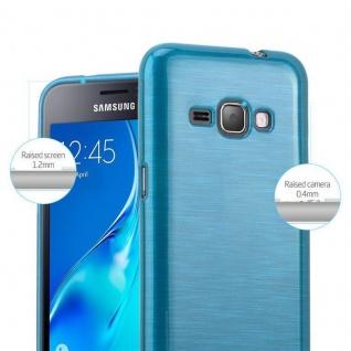 Cadorabo Hülle für Samsung Galaxy J1 2016 in TÜRKIS - Handyhülle aus flexiblem TPU Silikon - Silikonhülle Schutzhülle Ultra Slim Soft Back Cover Case Bumper - Vorschau 2