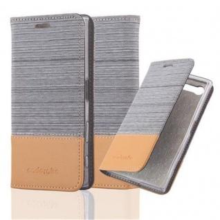 Cadorabo Hülle für Sony Xperia X COMPACT in HELL GRAU BRAUN - Handyhülle mit Magnetverschluss, Standfunktion und Kartenfach - Case Cover Schutzhülle Etui Tasche Book Klapp Style