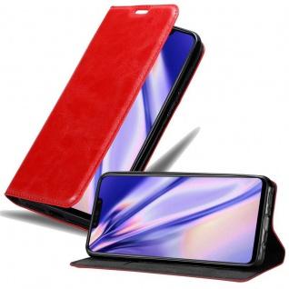 Cadorabo Hülle für Huawei P SMART PLUS in APFEL ROT Handyhülle mit Magnetverschluss, Standfunktion und Kartenfach Case Cover Schutzhülle Etui Tasche Book Klapp Style