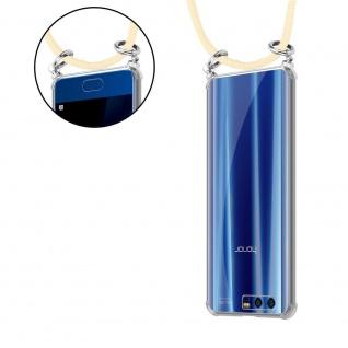 Cadorabo Handy Kette für Honor 9 in CREME BEIGE Silikon Necklace Umhänge Hülle mit Silber Ringen, Kordel Band Schnur und abnehmbarem Etui Schutzhülle - Vorschau 5