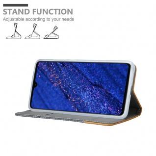 Cadorabo Hülle für Huawei MATE 20 in HELL GRAU BRAUN - Handyhülle mit Magnetverschluss, Standfunktion und Kartenfach - Case Cover Schutzhülle Etui Tasche Book Klapp Style - Vorschau 4