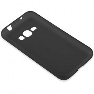 Cadorabo Hülle für Samsung Galaxy J1 2016 in SCHWARZ - Handyhülle aus flexiblem TPU Silikon - Silikonhülle Schutzhülle Ultra Slim Soft Back Cover Case Bumper - Vorschau 3