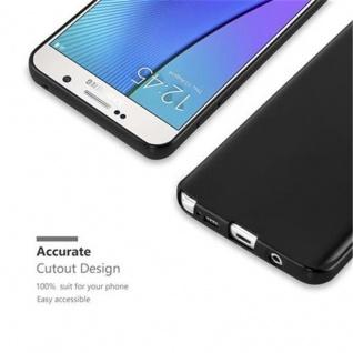 Cadorabo Hülle für Samsung Galaxy NOTE 5 in METALLIC SCHWARZ - Handyhülle aus flexiblem TPU Silikon - Silikonhülle Schutzhülle Ultra Slim Soft Back Cover Case Bumper - Vorschau 2