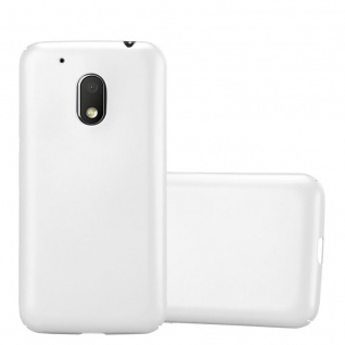 Cadorabo Hülle für Motorola MOTO G4 PLAY in METALL SILBER Hardcase Handyhülle aus Plastik gegen Kratzer und Stöße Schutzhülle Bumper Ultra Slim Back Case Hard Cover