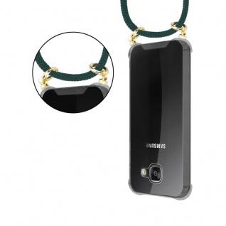 Cadorabo Handy Kette für Samsung Galaxy A3 2016 in ARMEE GRÜN - Silikon Necklace Umhänge Hülle mit Gold Ringen, Kordel Band Schnur und abnehmbarem Etui ? Schutzhülle - Vorschau 5