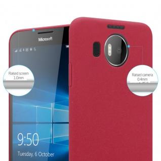 Cadorabo Hülle für Nokia Lumia 950 XL in FROSTY ROT - Hardcase Handyhülle aus Plastik gegen Kratzer und Stöße - Schutzhülle Bumper Ultra Slim Back Case Hard Cover - Vorschau 3