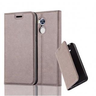 Cadorabo Hülle für Honor 6A in KAFFEE BRAUN - Handyhülle mit Magnetverschluss, Standfunktion und Kartenfach - Case Cover Schutzhülle Etui Tasche Book Klapp Style
