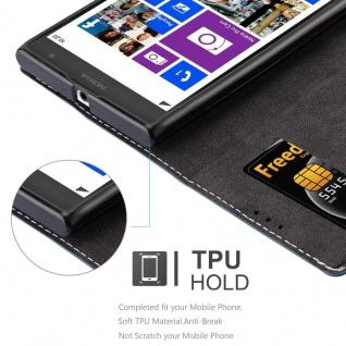 Cadorabo Hülle für Nokia Lumia 1020 in DUNKEL BLAU BRAUN - Handyhülle mit Magnetverschluss, Standfunktion und Kartenfach - Case Cover Schutzhülle Etui Tasche Book Klapp Style - Vorschau 2