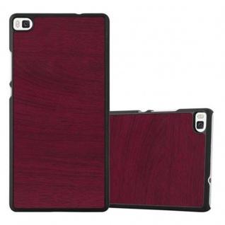 Cadorabo Hülle für Huawei P8 in WOODY ROT ? Hardcase Handyhülle aus Plastik gegen Kratzer und Stöße ? Schutzhülle Bumper Ultra Slim Back Case Hard Cover