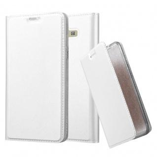 Cadorabo Hülle für Samsung Galaxy A7 2015 in CLASSY SILBER - Handyhülle mit Magnetverschluss, Standfunktion und Kartenfach - Case Cover Schutzhülle Etui Tasche Book Klapp Style