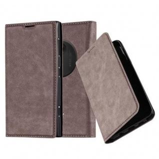 Cadorabo Hülle für Nokia Lumia 1020 in KAFFEE BRAUN - Handyhülle mit Magnetverschluss, Standfunktion und Kartenfach - Case Cover Schutzhülle Etui Tasche Book Klapp Style