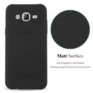 Cadorabo Hülle für Samsung Galaxy J5 2015 in FROST SCHWARZ - Handyhülle aus flexiblem TPU Silikon - Silikonhülle Schutzhülle Ultra Slim Soft Back Cover Case Bumper - Vorschau 5