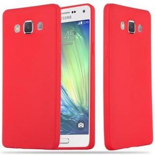 Cadorabo Hülle für Samsung Galaxy A5 2015 in CANDY ROT - Handyhülle aus flexiblem TPU Silikon - Silikonhülle Schutzhülle Ultra Slim Soft Back Cover Case Bumper