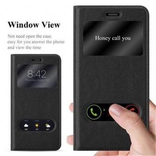 Cadorabo Hülle für Huawei P10 LITE in KOMETEN SCHWARZ ? Handyhülle mit Magnetverschluss, Standfunktion und 2 Sichtfenstern ? Case Cover Schutzhülle Etui Tasche Book Klapp Style - Vorschau 2
