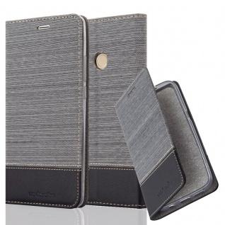 Cadorabo Hülle für Xiaomi MAX 2 in GRAU SCHWARZ - Handyhülle mit Magnetverschluss, Standfunktion und Kartenfach - Case Cover Schutzhülle Etui Tasche Book Klapp Style