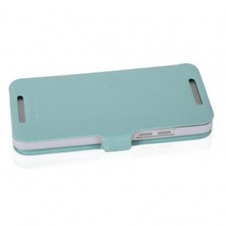 Cadorabo Hülle für HTC ONE MINI M4 (1.Gen.) - Hülle in ICY BLAU ? Handyhülle mit Standfunktion und Kartenfach im Ultra Slim Design - Case Cover Schutzhülle Etui Tasche Book - Vorschau 3