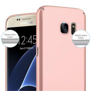 Cadorabo Hülle für Samsung Galaxy S7 in METALL ROSE GOLD - Hardcase Handyhülle aus Plastik gegen Kratzer und Stöße - Schutzhülle Bumper Ultra Slim Back Case Hard Cover - Vorschau 5