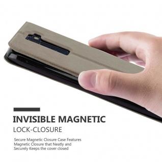 Cadorabo Hülle für LG K8 2016 in STEIN BRAUN ? Handyhülle mit Magnetverschluss, Standfunktion und 2 Sichtfenstern ? Case Cover Schutzhülle Etui Tasche Book Klapp Style - Vorschau 5