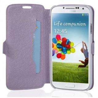 Cadorabo Hülle für Samsung Galaxy S4 MINI - Hülle in ICY FLIEDER - Handyhülle mit Standfunktion und Kartenfach im Ultra Slim Design - Case Cover Schutzhülle Etui Tasche Book