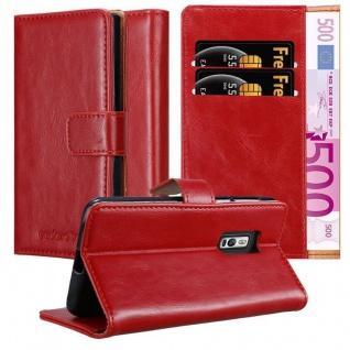 Cadorabo Hülle für OnePlus 2 in WEIN ROT Handyhülle mit Magnetverschluss, Standfunktion und Kartenfach Case Cover Schutzhülle Etui Tasche Book Klapp Style