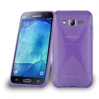 Cadorabo Hülle für Samsung Galaxy J5 2015 in FLIEDER VIOLETT ? Handyhülle aus flexiblem TPU Silikon ? Silikonhülle Schutzhülle Ultra Slim Soft Back Cover Case Bumper