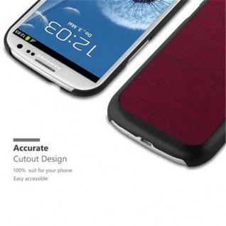 Cadorabo Hülle für Samsung Galaxy S3 / S3 NEO in WOODY ROT ? Hardcase Handyhülle aus Plastik gegen Kratzer und Stöße ? Schutzhülle Bumper Ultra Slim Back Case Hard Cover - Vorschau 2