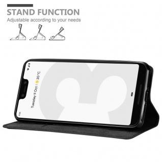 Cadorabo Hülle für Google Pixel 3 XL in NACHT SCHWARZ - Handyhülle mit Magnetverschluss, Standfunktion und Kartenfach - Case Cover Schutzhülle Etui Tasche Book Klapp Style - Vorschau 4