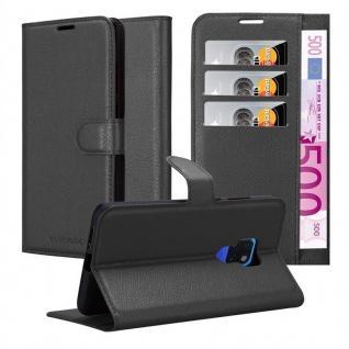 Cadorabo Hülle für Huawei MATE 20 in PHANTOM SCHWARZ - Handyhülle mit Magnetverschluss, Standfunktion und Kartenfach - Case Cover Schutzhülle Etui Tasche Book Klapp Style - Vorschau 1