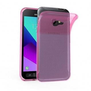 Cadorabo Hülle für Samsung Galaxy Xcover 4 in TRANSPARENT PINK - Handyhülle aus flexiblem TPU Silikon - Silikonhülle Schutzhülle Ultra Slim Soft Back Cover Case Bumper