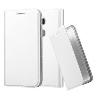 Cadorabo Hülle für Huawei G7 PLUS / G8 / GX8 in CLASSY SILBER - Handyhülle mit Magnetverschluss, Standfunktion und Kartenfach - Case Cover Schutzhülle Etui Tasche Book Klapp Style