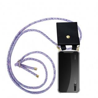 Cadorabo Handy Kette für Huawei P20 in UNICORN Silikon Necklace Umhänge Hülle mit Gold Ringen, Kordel Band Schnur und abnehmbarem Etui Schutzhülle