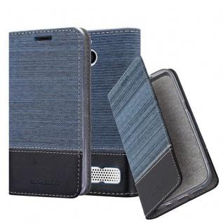 Cadorabo Hülle für Sony Xperia E1 in DUNKEL BLAU SCHWARZ - Handyhülle mit Magnetverschluss, Standfunktion und Kartenfach - Case Cover Schutzhülle Etui Tasche Book Klapp Style