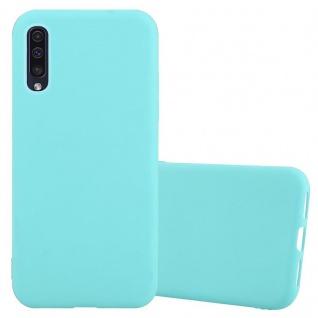 Cadorabo Hülle für Samsung Galaxy A50 in CANDY BLAU - Handyhülle aus flexiblem TPU Silikon - Silikonhülle Schutzhülle Ultra Slim Soft Back Cover Case Bumper
