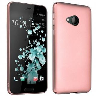 Cadorabo Hülle für HTC U PLAY in METALL ROSÉ GOLD ? Hardcase Handyhülle aus Plastik gegen Kratzer und Stöße ? Schutzhülle Bumper Ultra Slim Back Case Hard Cover