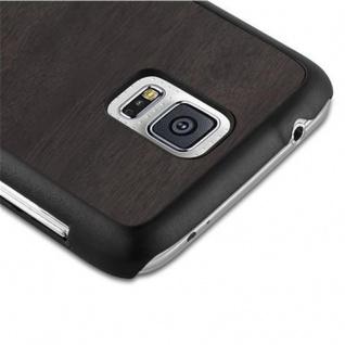 Cadorabo Hülle für Samsung Galaxy S5 / S5 NEO in WOODY SCHWARZ ? Hardcase Handyhülle aus Plastik gegen Kratzer und Stöße ? Schutzhülle Bumper Ultra Slim Back Case Hard Cover - Vorschau 4