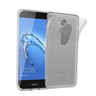 Cadorabo Hülle für Honor 6C in VOLL TRANSPARENT - Handyhülle aus flexiblem TPU Silikon - Silikonhülle Schutzhülle Ultra Slim Soft Back Cover Case Bumper