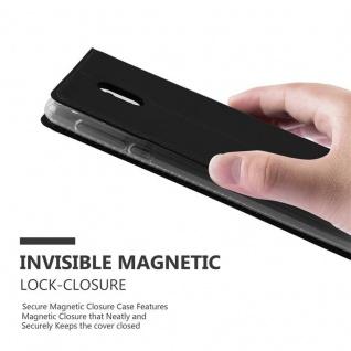 Cadorabo Hülle für Nokia 3 2017 in CLASSY SCHWARZ - Handyhülle mit Magnetverschluss, Standfunktion und Kartenfach - Case Cover Schutzhülle Etui Tasche Book Klapp Style - Vorschau 5