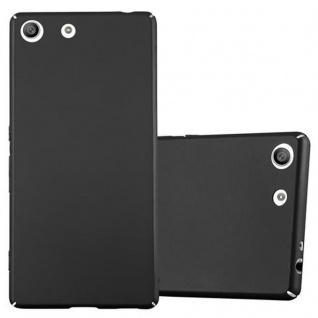 Cadorabo Hülle für Sony Xperia M5 - Hülle in METALL SCHWARZ ? Hardcase Handyhülle im Matt Metal Design - Schutzhülle Bumper Back Case Cover