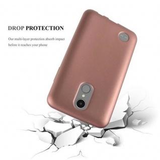 Cadorabo Hülle für LG K8 2017 in METALLIC ROSE GOLD - Handyhülle aus flexiblem TPU Silikon - Silikonhülle Schutzhülle Ultra Slim Soft Back Cover Case Bumper - Vorschau 3