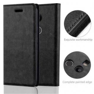 Cadorabo Hülle für LG NEXUS 5X in NACHT SCHWARZ - Handyhülle mit Magnetverschluss, Standfunktion und Kartenfach - Case Cover Schutzhülle Etui Tasche Book Klapp Style - Vorschau 2