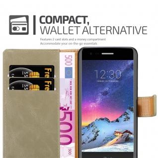 Cadorabo Hülle für LG K8 2017 in CAPPUCCINO BRAUN ? Handyhülle mit Magnetverschluss, Standfunktion und Kartenfach ? Case Cover Schutzhülle Etui Tasche Book Klapp Style - Vorschau 5