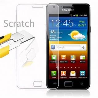 Cadorabo Panzer Folie für Samsung Galaxy S2 / S2 PLUS - Schutzfolie in KRISTALL KLAR - Gehärtetes (Tempered) Display-Schutzglas in 9H Härte mit 3D Touch Kompatibilität - Vorschau 2