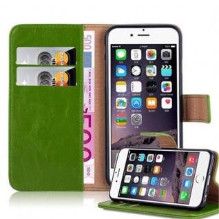 Cadorabo Hülle für Apple iPhone 6 / iPhone 6S in GRAS GRÜN ? Handyhülle mit Magnetverschluss, Standfunktion und Kartenfach ? Case Cover Schutzhülle Etui Tasche Book Klapp Style