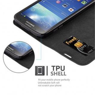 Cadorabo Hülle für Samsung Galaxy S4 ACTIVE in NACHT SCHWARZ - Handyhülle mit Magnetverschluss, Standfunktion und Kartenfach - Case Cover Schutzhülle Etui Tasche Book Klapp Style - Vorschau 2
