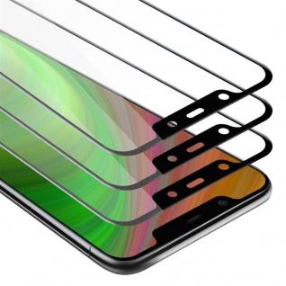 Cadorabo 3x Vollbild Panzer Folie für Nokia 7.1 PLUS / X7 - Schutzfolie in TRANSPARENT mit SCHWARZ - 3er Pack Gehärtetes (Tempered) Display-Schutzglas in 9H Härte mit 3D Touch