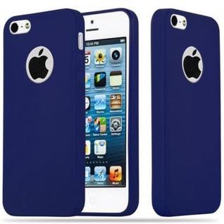 Cadorabo Hülle für Apple iPhone 5 / iPhone 5S / iPhone SE in CANDY DUNKEL BLAU - Handyhülle aus flexiblem TPU Silikon - Silikonhülle Schutzhülle Ultra Slim Soft Back Cover Case Bumper