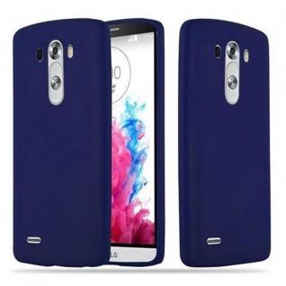 Cadorabo Hülle für LG G3 in CANDY DUNKEL BLAU - Handyhülle aus flexiblem TPU Silikon - Silikonhülle Schutzhülle Ultra Slim Soft Back Cover Case Bumper