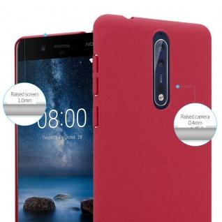 Cadorabo Hülle für Nokia 8 2017 in FROSTY ROT - Hardcase Handyhülle aus Plastik gegen Kratzer und Stöße - Schutzhülle Bumper Ultra Slim Back Case Hard Cover - Vorschau 4