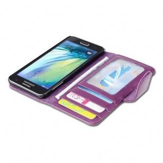 Cadorabo Hülle für Samsung Galaxy A3 2015 in BORDEAUX LILA - Handyhülle mit Magnetverschluss und 3 Kartenfächern - Case Cover Schutzhülle Etui Tasche Book Klapp Style - Vorschau 5