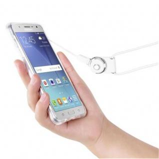Cadorabo Hülle für Samsung Galaxy J7 2015 (5) - Hülle in KOMPLETT TRANSPARENT - Handyhülle aus TPU Silikon mit Schlaufe im Small Waist Design - Silikonhülle Schutzhülle Ultra Slim Soft Back Cover Case Bumper - Vorschau 2